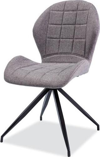 Casarredo Jídelní čalouněná židle HALS II šedá